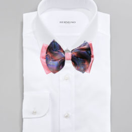 Big Bow Tie & Pocket Square Set - 3963