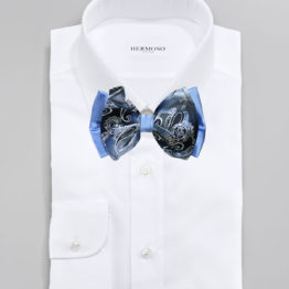 Big Bow Tie & Pocket Square Set - 3970