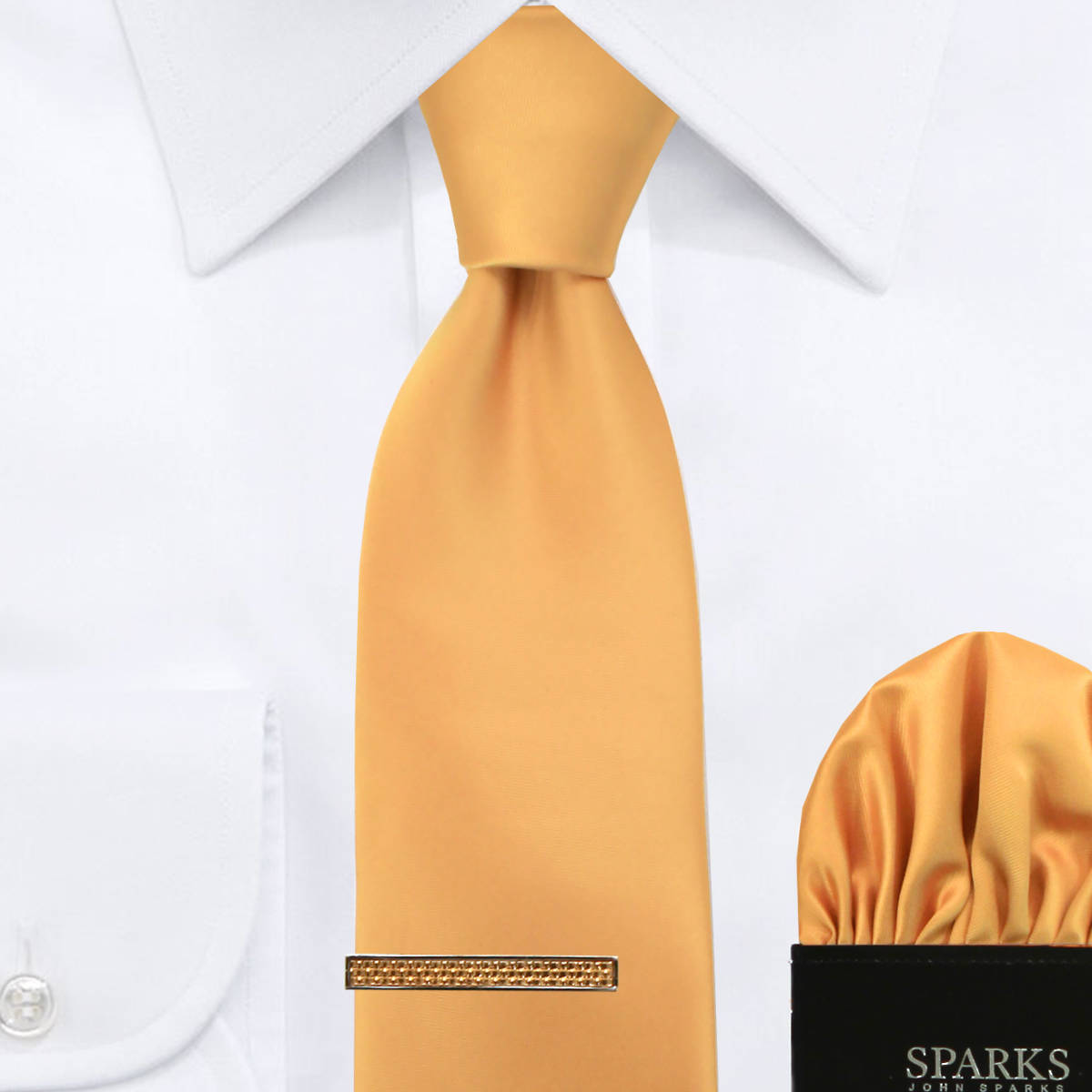00da1618bfe0 JOHN SPARKS Gold – Tie + Pocket Square + Tie Bar – Shop Hermoso New York  and John Sparks! john sparks hermoso new york necktie, bow tie, shirt, ...