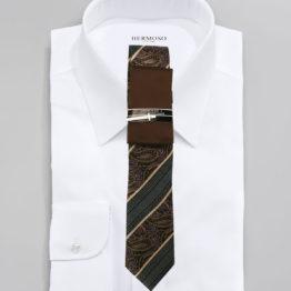 JOHN SPARKS BROWN – Tie + Pocket Square + Tie Bar