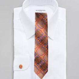 JOHN SPARKS ORANGE – Tie + POCKET SQUARED2 + Cufflinks 3940