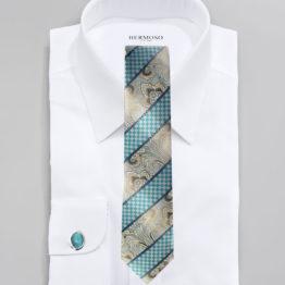 JOHN SPARKS AQUA BLUE – Tie + POCKET SQUARED2 + Cufflinks 3942