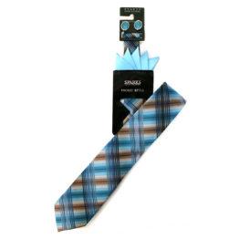 JOHN SPARKS LIGHT BLUE – Tie + POCKET SQUARED2 + Cufflinks 3943