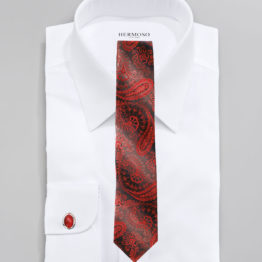 JOHN SPARKS RED – Tie + POCKET SQUARED2 + Cufflinks 3949XL