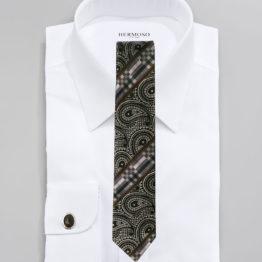 JOHN SPARKS BLACK – Tie + POCKET SQUARED2 + Cufflinks 3953