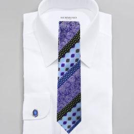 JOHN SPARKS BLUE – Tie + POCKET SQUARED2 + Cufflinks 3955