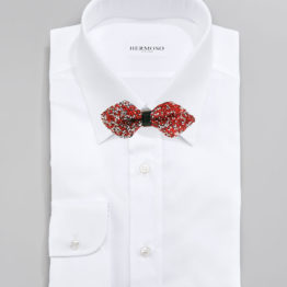 Big Bow Tie - 4400 White Velet Solid