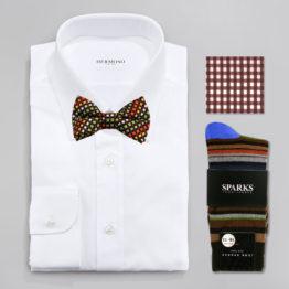 John Sparks Socks & BowTie & Pocket Square - Taupe 7446
