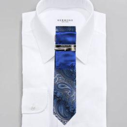 JOHN SPARKS Loyal Blue – Tie + POCKET SQUARED2 + Tie Bar 4176
