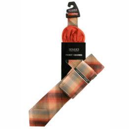 JOHN SPARKS Orange – Tie + POCKET SQUARED2 4294