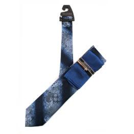 JOHN SPARKS Royal Blue – Tie + Pocket square2 + Tie Bar 4622