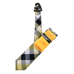JOHN SPARKS Gold – Tie + Pocket square2 + Tie Bar 4624