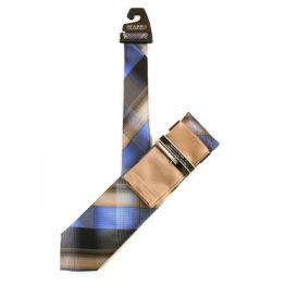 JOHN SPARKS Taupe – Tie + Pocket square2 + Tie Bar 4625