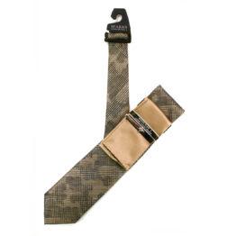 JOHN SPARKS Taupe – Tie + Pocket square2 + Tie Bar 4626