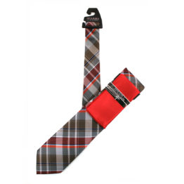 JOHN SPARKS Red – Tie + Pocket square2 + Tie Bar 4627