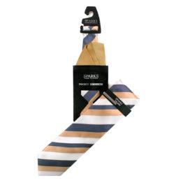 JOHN SPARKS Taupe – Tie + Pocket square2 + Tie Bar 4637