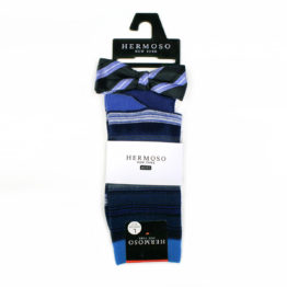 Hermoso NY Boy's BowTie & Socks & Pocket Square 4260B- Blue