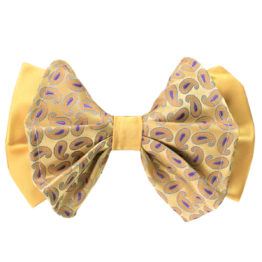 Hermoso New York Big Bow Tie Yellow- 4760