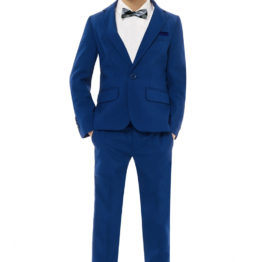 Hermoso NY Boy's BowTie & Socks & Pocket Square 4258B- Blue
