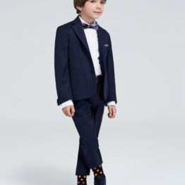 Hermoso NY Boy's BowTie & Socks & Pocket Square 4256B- Purple