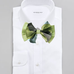 Hermoso New York Big Bow Tie Green- 4762