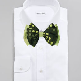 Hermoso New York Big Bow Tie Green- 4763