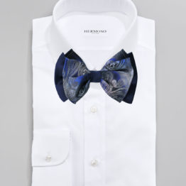 Hermoso New York Big Bow Tie Navy- 4768