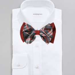 Hermoso New York Big Bow Tie Burgundy- 4771