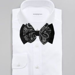 Hermoso New York Big Bow Tie Black- 4772