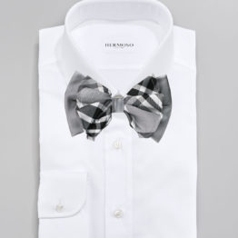 Hermoso New York Big Bow Tie Grey- 4774
