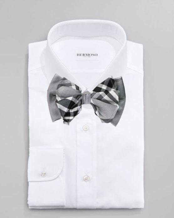 Hermoso New York Big Bow Tie Grey- 4774