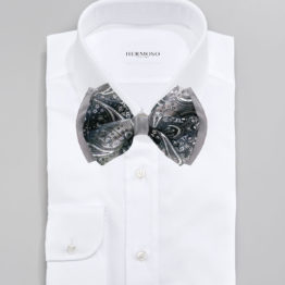 Hermoso New York Big Bow Tie Grey- 4775