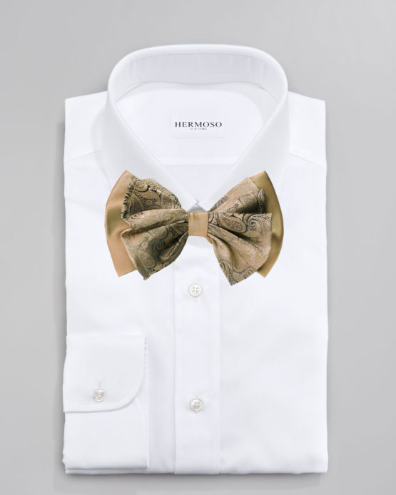 Hermoso New York Big Bow Tie Taupe- 4776