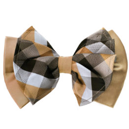 Hermoso New York Big Bow Tie Taupe- 4777