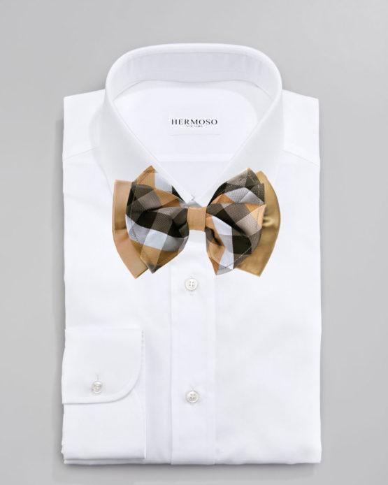 Hermoso New York Big Bow Tie Taupe- 4777