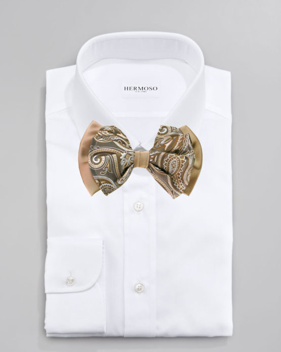 Hermoso New York Big Bow Tie Taupe- 4778